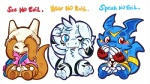 2017 blue_eyes cheddarpup claws cubone cute digimon dragon eyes_closed fan_character fur giramon guilmon hi_res hybrid lemonynade lizard looking_at_viewer male minnow_(character) nintendo pokémon red_eyes reptile scalie simple_background sven_(character) sven_the_giramon toe_claws toto_(character) totodice1 vee4eva veemon video_games vmon white_fur