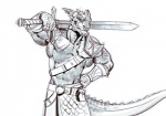 abs anthro argonian armor belt biceps clothed clothing damie_m facial_piercing flexing front_view furgonomics furry-specific_piercing greyscale grin holding_object holding_weapon horn horn_piercing inviting looking_at_viewer male melee_weapon missing_sample monochrome muscular muscular_male nose_piercing nose_ring pecs piercing pouch ring scalie scar shoulder_guards sketch skirt smile solo standing sword the_elder_scrolls tongue topless vambraces video_games weapon weapon_on_shoulderRating: SafeScore: 7User: CoriaultDate: June 25, 2017