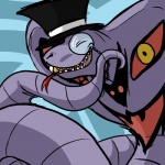 arbok eyes_closed eyewear feral forked_tongue gentleman hat humor male monocle nintendo pokémon pokémon_(species) reptile rubymight scalie snake solo teeth terribly_british tongue tongue_out top_hat video_games