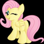 blue_eyes butt cutie_mark drawponies equine feathered_wings feathers female feral fluttershy_(mlp) friendship_is_magic fur hair long_hair mammal my_little_pony pegasus pink_hair smile solo wings