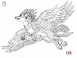 2017 alecani cheek_tuft claws duo feathered_wings feathers feral flying greyscale inner_ear_fluff kacey mammal monochrome mouse nym_(wolf-nymph) on_shoulder open_mouth open_smile pawpads pencil_(artwork) rodent simple_background size_difference smile toe_claws tofu_(ravenfox) traditional_media_(artwork) tuft wingsRating: SafeScore: 3User: imagooberDate: March 24, 2017