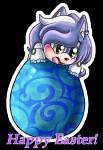 2017 anthro blush chibi cute ear_piercing easter easter_egg egg fan_character fc female hedgehog holidays mammal nyurora piercing simple_background smile sonic_(series) ychRating: SafeScore: 0User: Black-StarDate: April 23, 2017