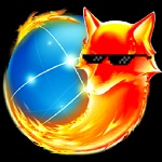 alpha_channel ambiguous_gender browser canine deal_with_it eyewear fire firefox fox globe low_res mammal simple_background snout solo sunglasses transparent_background unknown_artist
