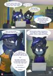 2017 anthro brother brother_and_sister canine clothed clothing comic female fur hair male mammal ratcha_(artist) rick_(ratcha) rina_(ratcha) sibling sister toony