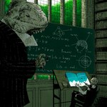 aliasing anthro book chair chalk chalkboard classy clothed clothing day diagram digital_media_(artwork) duo english_text existentialism fully_clothed holding_object inside lizard male math oekaki reptile scalie sitting size_difference standing text unknown_artistRating: SafeScore: 5User: mscDate: April 23, 2007