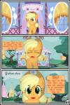applejack_(mlp) blonde_hair comic earth_pony equine female feral friendship_is_magic green_eyes gutovi-kun hair horse mammal my_little_pony pony