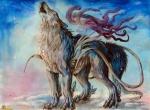 amaterasu ambiguous_gender canine capcom deity feral fur howl mammal pearleden solo video_games white_fur wolf ŌkamiRating: SafeScore: 3User: DogenzakaDate: August 07, 2009