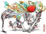 amaterasu canine capcom deity female feral fur mammal markings pearleden shiranui snarling solo unusual_coloring video_games white_fur wolf ŌkamiRating: SafeScore: 0User: DogenzakaDate: August 08, 2009
