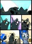 armor blood broken comic equine feathers feral friendship_is_magic group hair horn mammal metal_(artist) monster my_little_pony princess_luna_(mlp) scratches sweat tired undead winged_unicorn wings