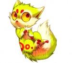 2012 canine chibi cute digital_media_(artwork) falvie falvie_(character) female feral fionbri fur green_fur mammal o_o red_eyes soloRating: SafeScore: 24User: slyroonDate: May 22, 2012