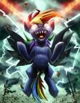 2017 equine fangs female friendship_is_magic laser_eyes lightning mammal my_little_pony pegasus rainbow_dash_(mlp) reaction_image sharp_teeth solo teeth tsitra360 wingsRating: SafeScore: 6User: 2DUKDate: October 17, 2017