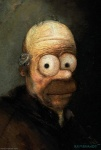 bust_portrait david_barton homer_simpson human humor inspired_by_proper_art looking_at_viewer male mammal not_furry oil_painting portrait rembrandt solo the_simpsons