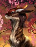 2017 brown_eyes brown_fur day detailed_background digital_media_(artwork) dragon eastern_dragon echo_(nendakitty) feral fur furred_dragon headshot_portrait horn outside portrait smile solo trioza