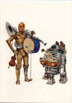 1977 ambiguous_gender android astromech bow_(stringed_instrument) c-3po card christmas drum duo holidays machine male music musical_instrument not_furry r2-d2 robot simple_background sound star_wars unknown_artist violin white_background
