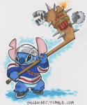 2013 4_fingers 4_toes alien angry armor bear_trap black_eyes blue_body blue_claws blue_nose bottomless buzzsaw claws clothed clothing disney dynamite experiment_(species) explosives helmet hockey hockey_stick holding_object ice_hockey ice_skates james_silvani jersey lilo_and_stitch new_york_rangers nhl sneer solo spikes sport stitch teeth toes traditional_media_(artwork) trap_(contrivance) urlRating: SafeScore: 3User: BooruHitomiDate: March 22, 2018