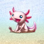 2010 4_toes ambiguous_gender amphibian anthro axolotl blue_eyes digital_media_(artwork) drjavi looking_at_viewer low_res nude open_mouth salamander sitting smile solo toes tongue white_skinRating: SafeScore: 5User: AxolotlDate: November 16, 2017