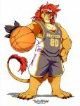 2016 4_fingers 4_toes anthro basketball claws clothed clothing feline fur hi_res lion male mammal super-tuler toes