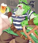 alcohol bandanna beer belt beverage canine fur gj_nun green_fur male mammal muscular muscular_male pattern_clothing pirate solo striped_clothing striped_shirt tokyo_afterschool_summoners tongue wolfRating: SafeScore: 1User: arliDate: October 28, 2017