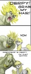bald broly comic crossover derpy_hooves_(mlp) dialogue dragon_ball duo equine fail feathered_wings feathers female feral friendship_is_magic grey_feathers hair hair_grab hattonslayden hi_res human humanoid male mammal me_gusta meme my_little_pony nom pegasus saiyan text wingsRating: SafeScore: 35User: KholchevDate: June 19, 2012