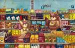2017 anthro arkomeda big_breasts blush breasts butt clothed clothing cub duo female food fur gouache_(artwork) hair male mammal open_mouth public shirt supermarket traditional_media_(artwork) youngRating: SafeScore: 9User: MetafluxusDate: November 11, 2017