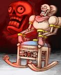 animated_skeleton bone humanoid male meme nightmare_face not_furry papyrus_(undertale) rocking_chair skeleton solo undead undertale unknown_artist video_games what what_has_science_done where_is_your_god_now why