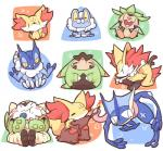 amphibian anthro berry blush braixen bubble canine chesnaught chespin delphox eating eyes_closed fennekin feral fire food froakie frogadier fruit fur greninja leaf mammal nettsuu nintendo open_mouth pokémon quilladin shapes simple_background stick tongue tongue_out video_games white_backgroundRating: SafeScore: 1User: JasperinityDate: March 26, 2017