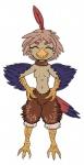 anthro avian beak bird cute eyes_closed feathers female harpy punishedkom smile solo talonsRating: SafeScore: 0User: PunishedKomDate: April 24, 2017