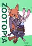 2017 anthro canine clothed clothing disney duo female fox fur judy_hopps lagomorph male mammal nahami nick_wilde rabbit simple_background zootopiaRating: SafeScore: 3User: Rysaerio-MisoeryDate: March 31, 2017