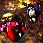alien armor clothing duo galaxia gordo halberd_(ship) helmet kirby kirby_(series) male melee_weapon membranous_wings meta_knight nintendo outside sun sword unknown_artist video_games weapon wheelie_(kirby) wings yellow_eyesRating: SafeScore: 1User: Rockman2kDate: November 12, 2009