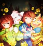 2017 ambiguous_gender anthro armless asriel_dreemurr boss_monster caprine chara_(undertale) child clothed clothing cub flower fur goat human long_ears male mammal monster_kid plant polarissketches pose protagonist_(undertale) reptile scalie sweater undertale video_games white_fur youngRating: SafeScore: 7User: GuavaStealerDate: June 28, 2017