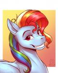 2017 blue_fur equine eyebrows feathered_wings feathers female feral friendship_is_magic fur hair headshot_portrait mammal multicolored_hair my_little_pony mykegreywolf pegasus portrait rainbow_dash_(mlp) rainbow_hair simple_background smile solo wingsRating: SafeScore: 8User: MillcoreDate: July 27, 2017