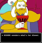 2016 asgore_dreemurr blonde_hair boss_monster caprine cd-i clothed clothing crossover cup english_text goat hair holding_cup horn humanoid kenju king king_harkinian link:_the_faces_of_evil lol_comments male mammal meme nintendo parody philips reaction_image royalty solo text the_legend_of_zelda undertale video_games window