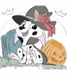 101_dalmatians 2017 cadpig canine dalmatian disney dog fangs female feral food fruit hat hi_res hindpaw looking_at_viewer mammal open_mouth pawpads paws pumpkin smitty_g solo witch_hatRating: SafeScore: 10User: ultragamer89Date: September 08, 2017