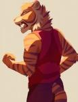 5_fingers akitamonster anthro feline fur male mammal open_mouth orange_fur simple_background solo striped_fur stripes teeth tiger tongue white_backgroundRating: SafeScore: 2User: MillcoreDate: April 25, 2017