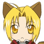 animal_humanoid animated beige_skin big_eyes blink blinking blonde_hair brown_fur cat_humanoid edward_elric feline front_view fullmetal_alchemist fur hair headshot_portrait humanoid low_res male mammal portrait short_hair simple_background solo toony unknown_artist white_background yellow_eyes