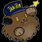 3_fingers :3 alpha_channel bear bearphones blitzdrachin daww english_text fluffy hat headphones low_res mammal paws poof solo star text tongue tongue_out yellow_eyes