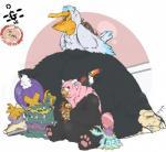 ambiguous_gender avian beak bewear bird dannyg drifblim drooling feral fur group male muk nintendo pelliper pokémon saliva sleeping snorlax teeth toxipex video_games wingsRating: SafeScore: 0User: Cat-in-FlightDate: April 25, 2017