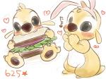 2011 3_toes 4:3 <3 alien black_eyes blush chico110 claws colored_sketch cute digital_drawing_(artwork) digital_media_(artwork) disney eating experiment_(species) fake_ears fake_rabbit_ears food fur gold_fur lilo_and_stitch looking_at_viewer red_nose reuben sandwich_(food) sitting small_tail standing star toe_claws toes white_pupilsRating: SafeScore: 0User: BooruHitomiDate: September 24, 2017