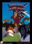 <3 aircraft anthro azaleesh belt black_hair black_nose black_sclera blonde_hair blue_eyes bolf breasts brown_fur brown_hair brown_nose cameron canine cat cleavage clothed clothing comic cover cover_page ear_piercing english_text eyelashes eyewear facial_hair feelgood_airlines_1 feline female fluffy fluffy_tail fox fur glasses green_eyes grey_fur group hair jesse long_hair male mammal multicolored_fur noelle orange_fur outside piercing pink_nose smile standing tan_fur teeth text two_tone_fur white_fur