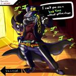 absurd_res animated_skeleton belt bone cosplay crossover deimion_j_shadowwolf english_text gaster_blaster hat hi_res japanese_text jojo's_bizarre_adventure jotaro_kujo male not_furry sans_(undertale) skeleton solo stand_(jjba) standing star_platinum text to_be_continued undead undertale video_games