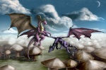 arthropod cynder dragon dragonfly duo female feral flying insect kevindragon male membranous_wings outside purple_body scalie sky spyro spyro_the_dragon video_games western_dragon wingsRating: SafeScore: 2User: TauxieraDate: July 01, 2010