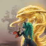 2018 anthro black_fur blue_fur blue_hair canine digital_media_(artwork) dragon female freya_(zionsangel) fur hair horn lenika mammal nikolaosflamel scales scalie tattoo wings wolf yellow_scales zionsangelRating: SafeScore: 7User: LenikaDate: March 08, 2018