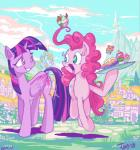 2017 duo equine female friendship_is_magic horn horse jowybean mammal my_little_pony pinkie_pie_(mlp) pony ponyville twilight_sparkle_(mlp) winged_unicorn wings