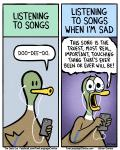 2015 anthro avian bird border brian_gordon brian_the_duck comic crying dialogue duck english_text humor music singing speech_bubble tears text the_truth white_border