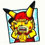 anthro anthrofied black_eyes fur hiemie_d_fishboy hulk_hogan humor low_res male mammal muscular nintendo pikachu pokémon pokémorph rodent solo unknown_artist video_games yellow_furRating: SafeScore: 2User: The Dog In Your GuitarDate: May 09, 2007
