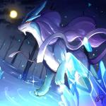 all_fours ambiguous_gender barefoot crystal detailed feral forest inosuke0101 legendary_pokémon moon night nintendo nude outside pokémon pokémon_(species) red_eyes solo sparkles suicune tree video_games waterRating: SafeScore: 8User: DergaliciousDate: April 18, 2018