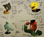 2017 alligator angus_(nitw) anthro bea_(nitw) bear blush canine cat cigarette clothed clothing crocodilian english_text eyewear feline female fox glasses green_eyes gregg_(nitw) group hat hi_res mae_(nitw) male mammal night_in_the_woods panzery25 paper red_eyes reptile scalie signature smoking text yellow_scleraRating: SafeScore: 10User: JAKXXX3Date: July 01, 2017