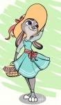 anthro basket clothed clothing cute cute_clothing disney dress eyelashes female fur grey_fur hat judy_hopps lagomorph mammal purple_eyes rabbit smile solo standing wanderingdoodles zootopiaRating: SafeScore: 31User: CloverTheRabbitDate: February 18, 2016