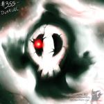 ambiguous_gender bone cracked duskull feral ghost looking_at_viewer nightmare_fuel nintendo not_furry pokemonfromhell pokémon pokémon_(species) red_eyes skull solo source_request spirit video_games