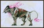 bovine cattle hooves horn male mammal markings pearleden solo unusual_coloringRating: SafeScore: 0User: DogenzakaDate: August 08, 2009